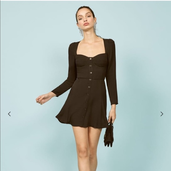 Reformation Dresses & Skirts - NWT reformation Milla Black Mini Dress